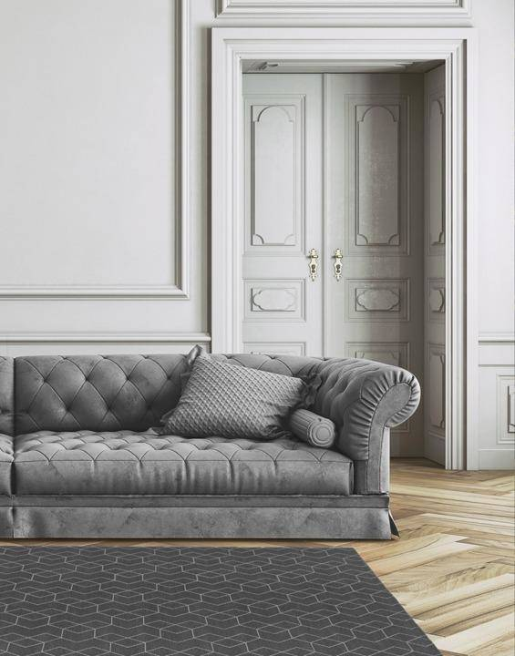 Dywan Carpet Decor Cube Anthracite 160x230