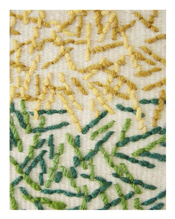 Dywan Gan Backstitch Calm Green