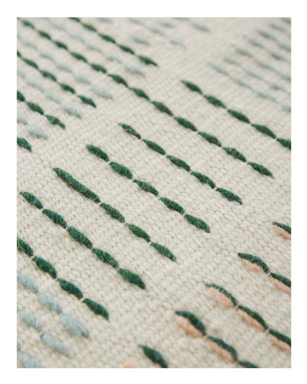 Dywan Gan Backstitch Composition Green