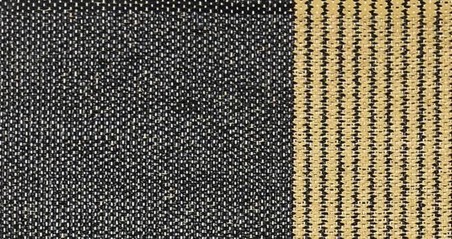 Dywan Horredsmattan Stripe Black Yellow 13404