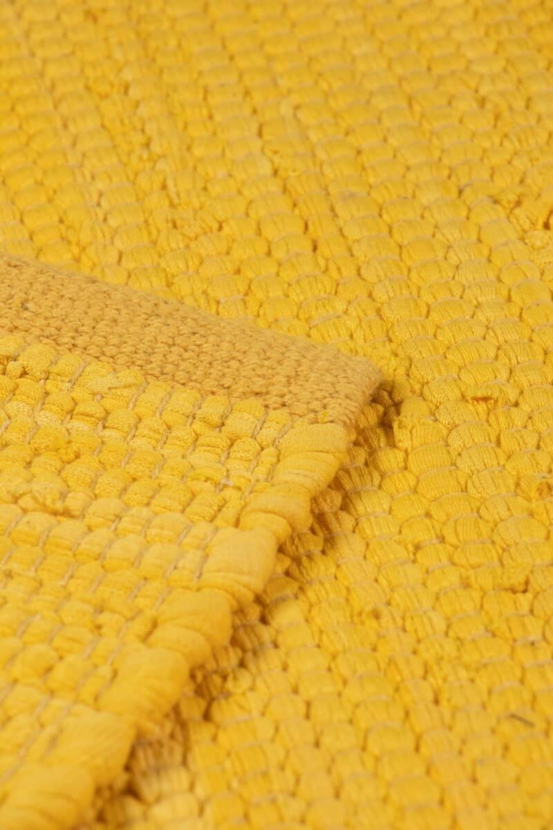 Dywan Rug Solid Cotton Rug Raincoat Yellow