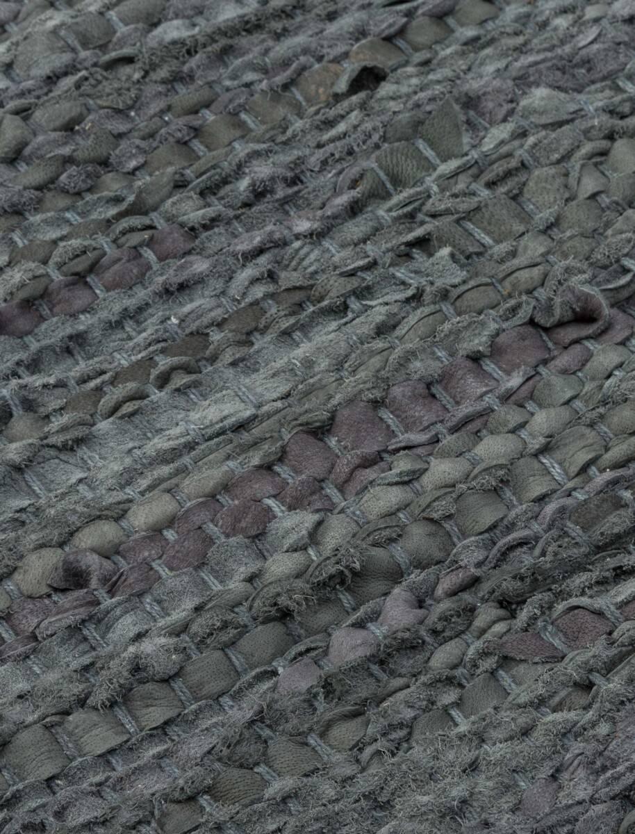 Dywan Rug Solid Leather Dark Grey