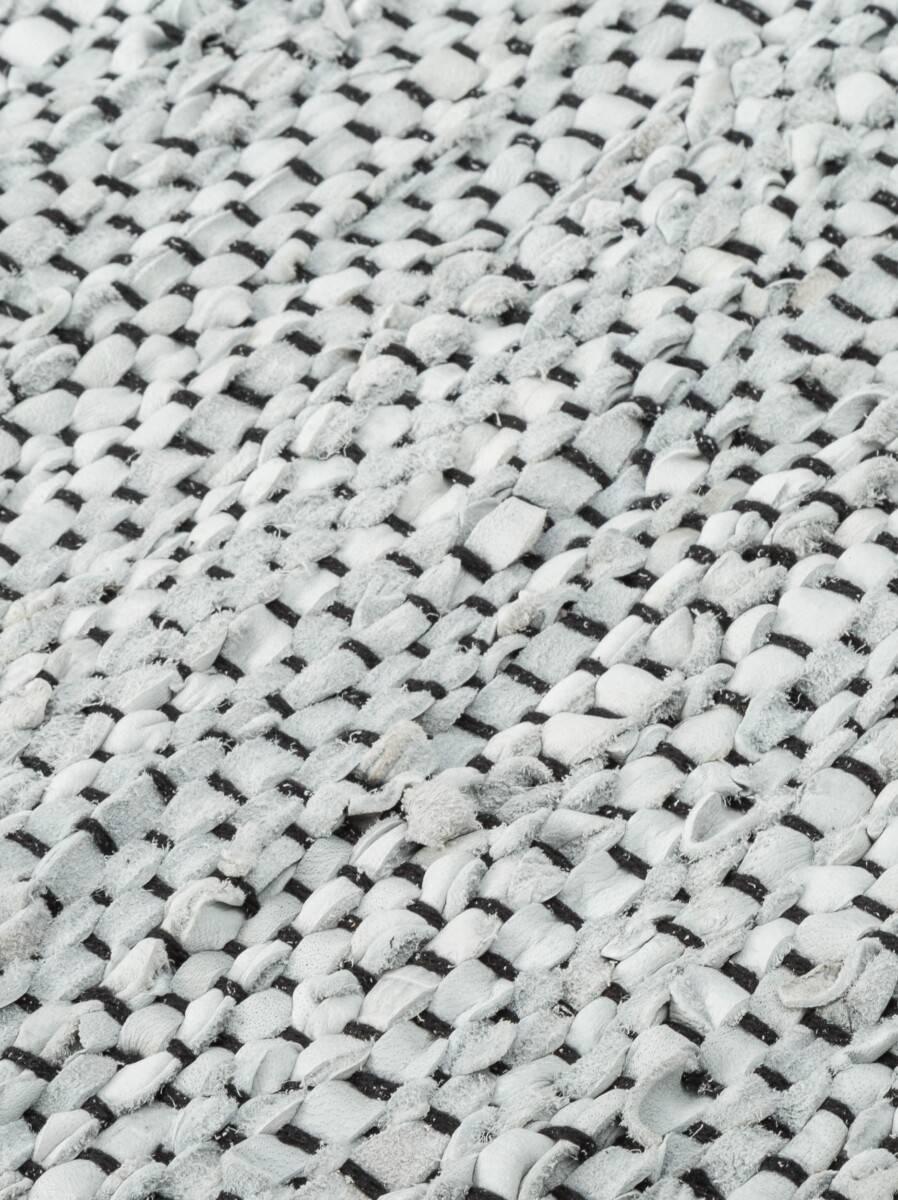 Dywan Rug Solid Leather Light Grey