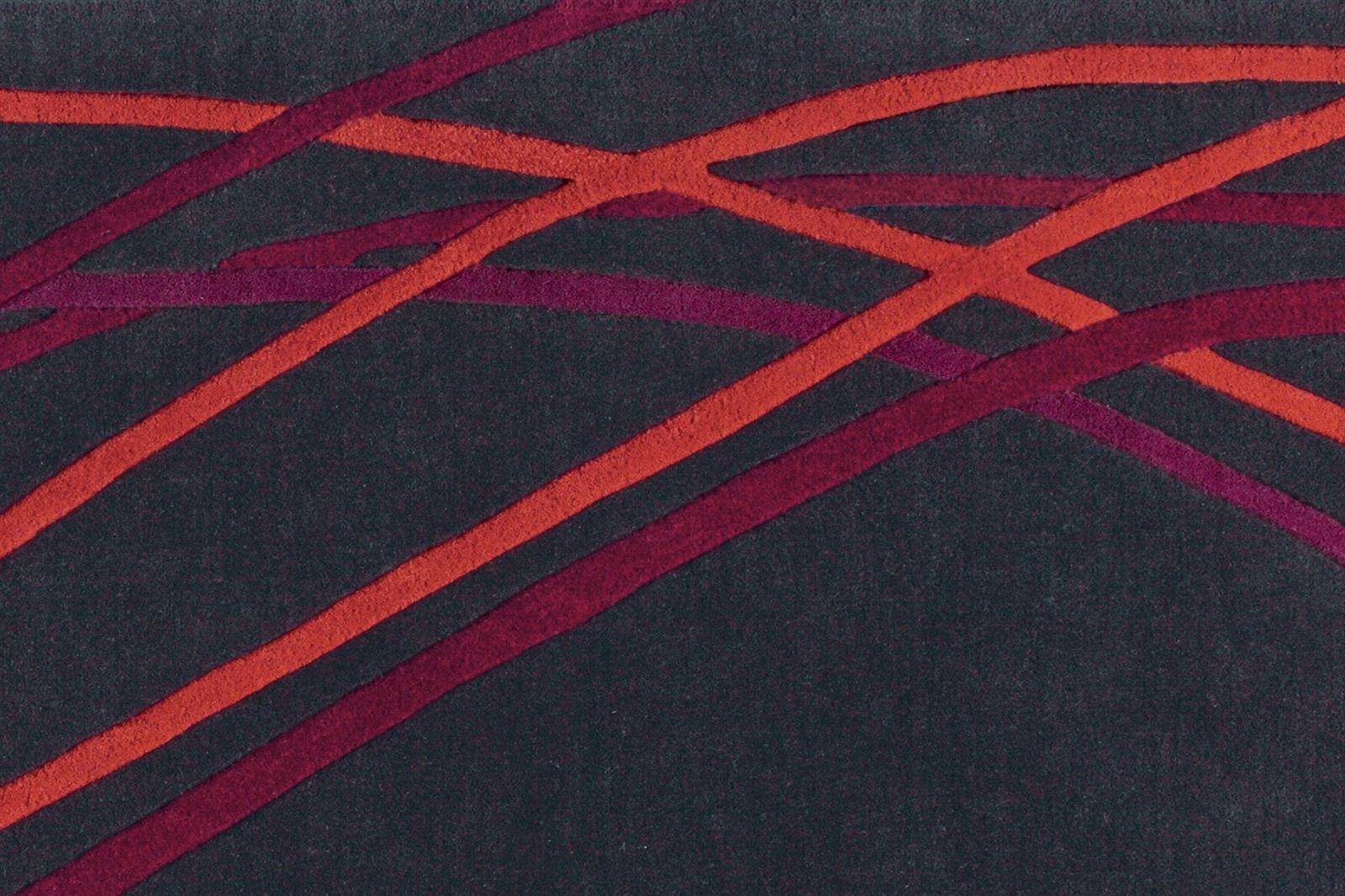 Dywan Serge Lesage Fluide Red And Anthracite
